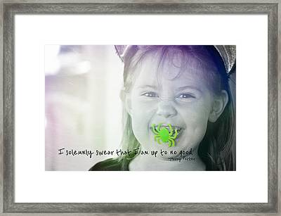 Treat Quote Framed Print by JAMART Photography