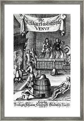 Treatments For Syphilis, 17th Century Framed Print