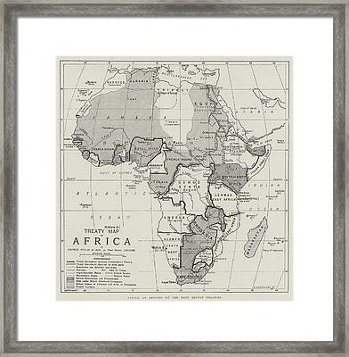 Treaty Map Of Africa Framed Print