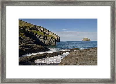 Trebarwith Strand In North East Cornwall Framed Print
