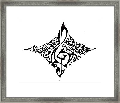 Treble Clef Framed Print by Aaron Bodtcher
