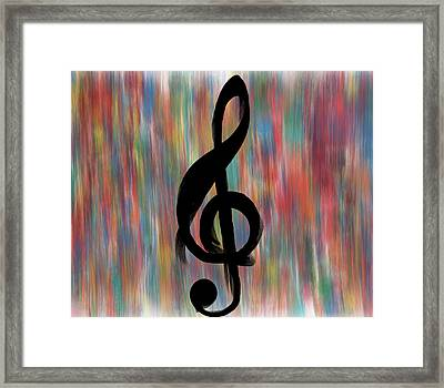 Treble Cleff Framed Print by Dan Sproul