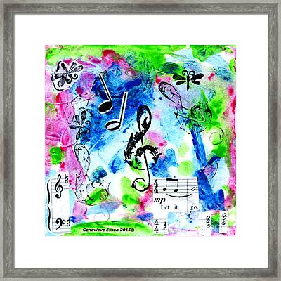 Framed Print featuring the mixed media Treble Mp by Genevieve Esson