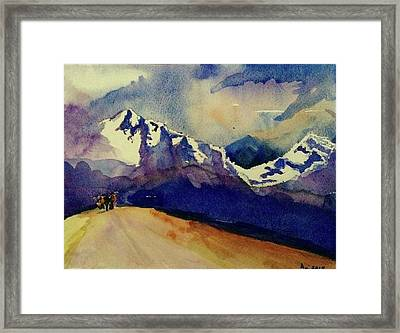 Trecking Framed Print by Annie Poitras