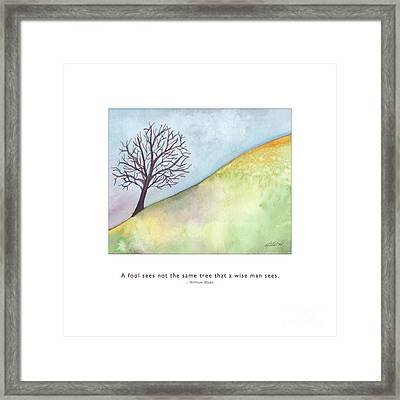 Framed Print featuring the painting Tree A Wise Man Sees by Kristen Fox