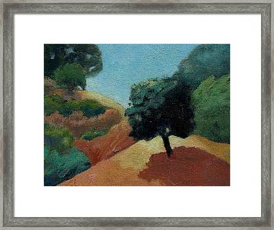 Framed Print featuring the painting Tree Alone by Gary Coleman