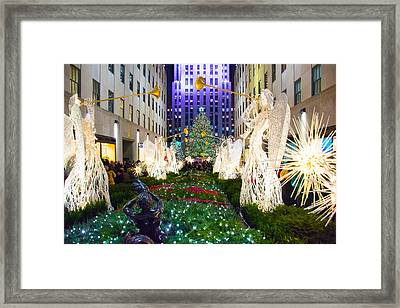 Tree And Angels 2015 Framed Print