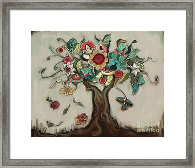 Tree And Plenty Framed Print by Carrie Joy Byrnes