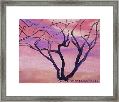 Tree At Sunset Framed Print by Suzanne  Marie Leclair
