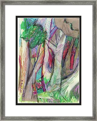 Tree Collage Framed Print by Ruth Renshaw