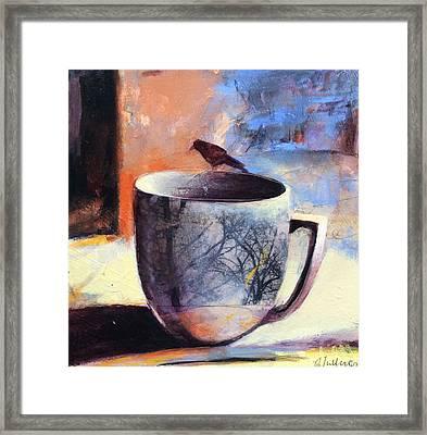 Tree Cup Framed Print by Joan Fullerton