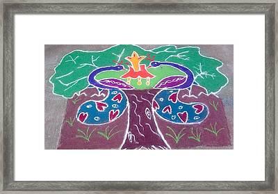 Tree Design Framed Print by Joni Mazumder