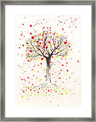 Tree Explosion Framed Print