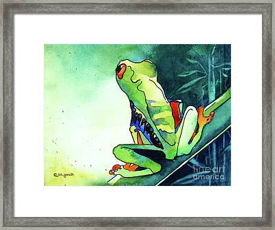 Tree Frog Eats Bugs Framed Print