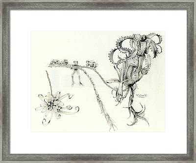 Tree Frog Hangout Framed Print by Penrith Goff