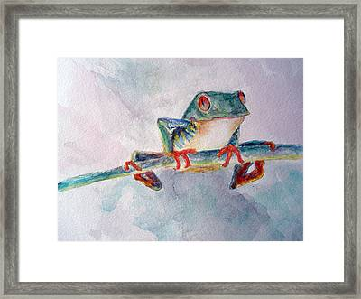 Tree Frog Framed Print by Mike Segura