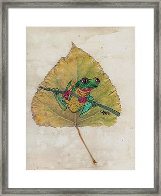 Tree Frog Framed Print by Ralph Root