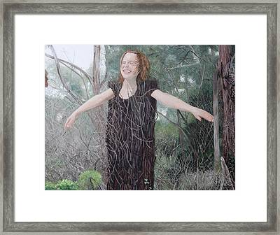 Tree Girl Framed Print