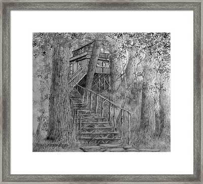 Tree House #1 Framed Print by Jim Hubbard