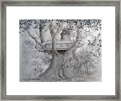 Tree House #2 Framed Print by Jim Hubbard