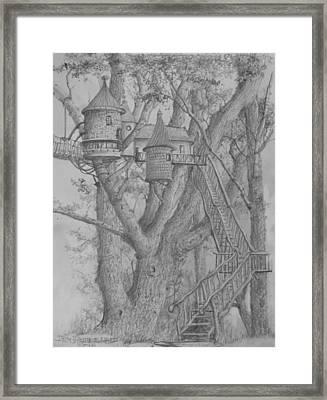 Tree House #3 Framed Print by Jim Hubbard