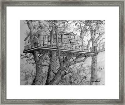 Tree House #4 Framed Print by Jim Hubbard