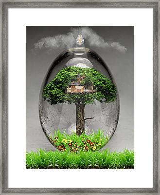 Tree House Art Framed Print