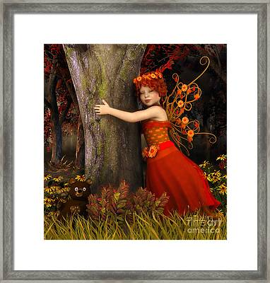 Tree Hug Framed Print by Jutta Maria Pusl