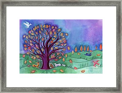 Tree In Autumn Framed Print