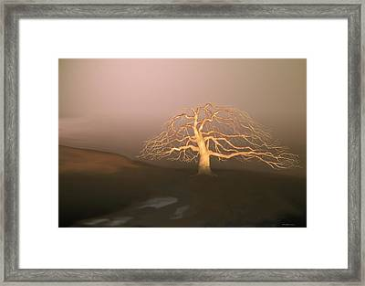 Framed Print featuring the digital art Tree In Winter I by Kerry Beverly