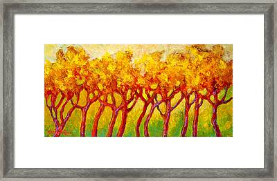 Tree Line Framed Print by Marion Rose