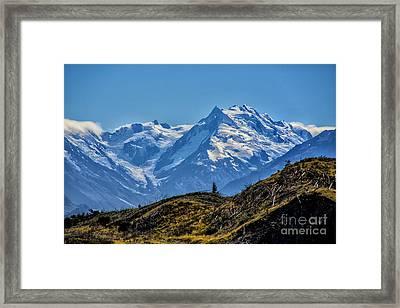 Tree Line Mountain View Framed Print by Rick Bragan