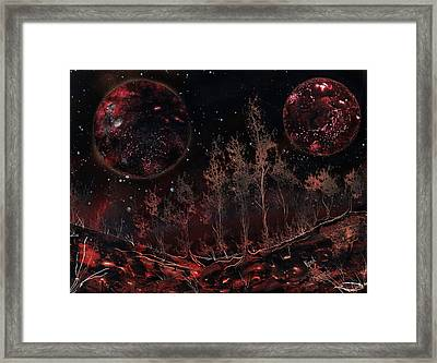 Tree Line On Fettorine Framed Print