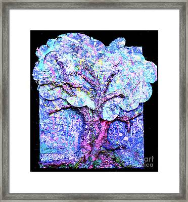 Framed Print featuring the painting Tree Menagerie by Genevieve Esson