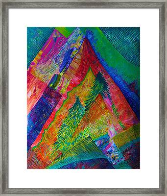 Framed Print featuring the painting A Tree Motif by Polly Castor