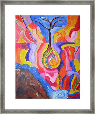 Tree Of Color Framed Print by Joseph  Arico