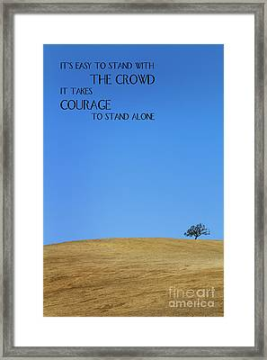 Tree Of Courage Framed Print