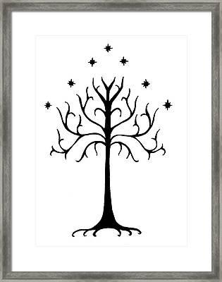 Tree Of Gondor Crest Framed Print