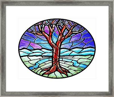 Tree Of Grace - Winter Framed Print by Jim Harris