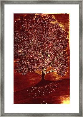 Tree Of Hopes Framed Print by Sahar Abid