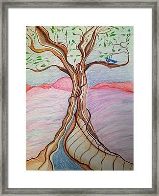 Tree Of Joy Framed Print by Jan Nosakowski
