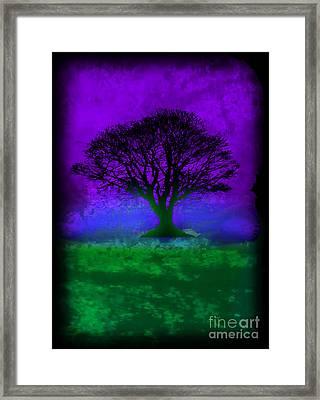 Tree Of Life - Purple Sky Framed Print by Robert R Splashy Art