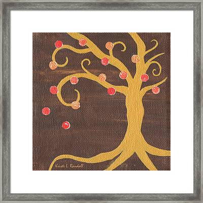 Tree Of Life - Right Framed Print by Kristi L Randall