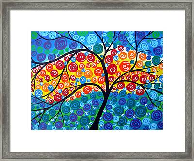 Tree Of Life 8 Framed Print by Cathy Jacobs