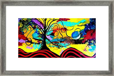 Tree Of Life Abstract Painting  Framed Print