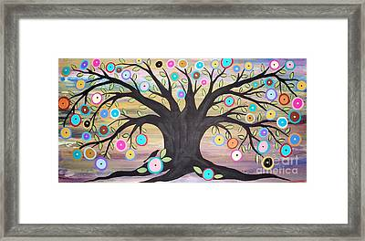 Tree Of Life And Bird Framed Print by Karla Gerard