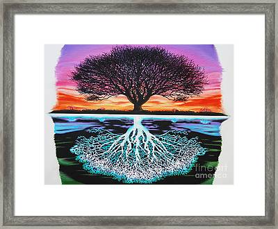 Tree Of Life And Negative Framed Print