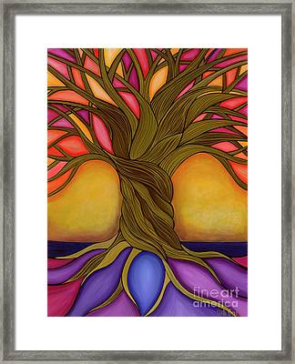 Framed Print featuring the painting Tree Of Life by Carla Bank