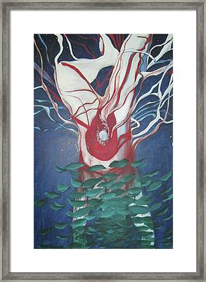 Framed Print featuring the painting Tree Of Life by Carrie Maurer