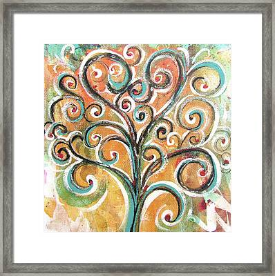 Framed Print featuring the painting Tree Of Life by Chris Hobel